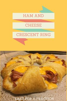 Ham and Cheese Crescent Ring - Feast for a Fraction Pilsbury Crescent Recipes, Crescent Roll Recipes, Crescent Ring, Crescent Rolls, Beef Recipes For Dinner, Chicken Recipes, Cheese Ring, Rolled Sandwiches, Kid Friendly Dinner