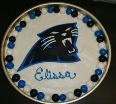 Panthers cookie cake
