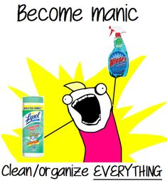 Bipolar Disorder Cartoons | Recovery Rage Comics - Manic cleaning spree: a benefit of bipolar...