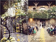Courtyard ceremony @vsattui winery. Wedding Planning by @DarleneForbesNV