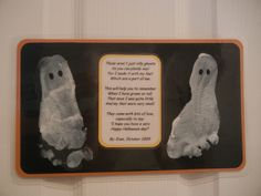 a cute Halloween poem with ghost footprints