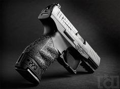 Walther PPQ 9mm.  Best trigger of all handguns?  On my wishlist.