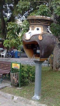 Sao Paulo, Brazil - Phone Booths - Pottery