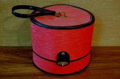 Vintage Hat Box Wig Box Train Box Travel Box by PickersWarehouse