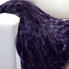 Lazo Throw - Aubergine from Z Gallerie Purple Throw Blanket, Purple Pillows, Purple Couch, Purple Bedding, Fur Blanket, White Bedding, Throw Pillows Bed, Bed Throws, Moda Masculina