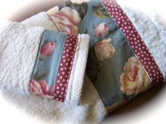 Luxury bathroom towel set. Handmade by Cath. www.createdbycath.com