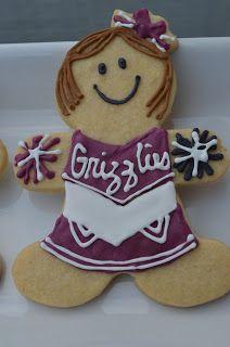 Baked by Rachel: Grizzly Cheerleader Cookies