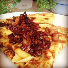 Fleskepannekaker – Fru Haaland Hawaiian Pizza, Feta, Nom Nom, Homemade, Baking, Dinner, Image, Home Made, Patisserie