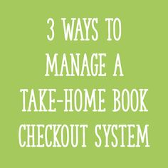 How do you know which books students take home each night, and if they come back? Keep reading for 3 different ways to keep track of take-home books! Library Checkout System, Classroom Library Checkout, Class Library, Library Books, Book Organization, Classroom Organization, Classroom Management, Class Management, Classroom Ideas