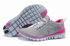 Femme Running (gris/rose/blanc) Chaussures Nike Free 3.0 V3 oRAJF moins cher