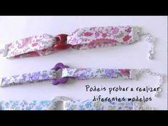 DIY: Pulsera de tela con eslabón central   Bracelet Design