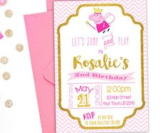 Peppa Pig Invitacion Para Imprimir De Por SlashShop Birthday Invitations Surprise Party