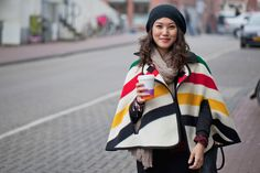 Amsterdam Street Style - yes it maybe cold out on those Amsterdam streets but Dam Style caught a ray of sunshine in stunning stripes!