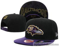 80a4db4b091 NFL Baltimore Ravens Snapback Hats Black Purple 55 cheap for sale