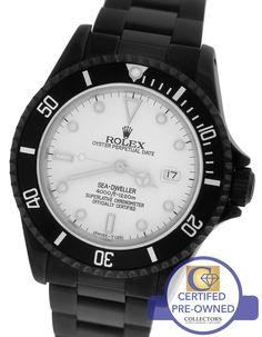 MINT Men's Rolex Sea-Dweller 'Triple Six' 16660 Black PVD Coated 40mm Date Watch