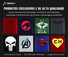 Camisetas exclusivas e de alta qualidade
