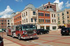 Carmel Fire Department Ladder Truck at Carmel City Center - Carmel, Indiana - Money Magazine's #1 Best Place to Live 2012!