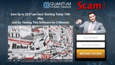 quantum hybrid trader review - confirmed scam! Get Rich Quick, How To Get Rich, Finance, Economics