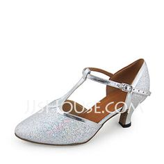 Dance Shoes - $33.99 - Women's Leatherette Sparkling Glitter Heels Pumps Modern Ballroom Wedding With T-Strap Dance Shoes (053018533) http://jjshouse.com/Women-S-Leatherette-Sparkling-Glitter-Heels-Pumps-Modern-Ballroom-Wedding-With-T-Strap-Dance-Shoes-053018533-g18533
