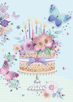 Happy Birthday Greetings Friends, Happy Birthday Flower, Happy Birthday Pictures, Happy Birthday Sister, Happy Birthday Messages, Birthday Fun, Birthday Clips, Congratulations, Illustration