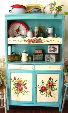 painted kitchen dresser