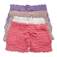 playa crochet shorts, knickers