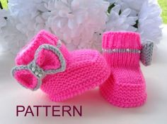 P A T T E R N Knitting Baby Booties Girl Baby Shoes by Solnishko43, $5.50