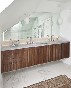 Bathroom Vanity Zebra Wood modern zebrawood bath vanity with bisazzo glass mosaic tile wall