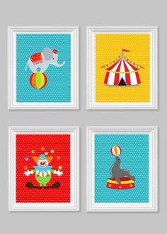 Circus Nursery Art Boy's Room Decor Yellow by SweetPeaNurseryArt Baby Room Art, Kids Room Wall Art, Boys Room Decor, Kids Decor, Circus Nursery, Elephant Nursery, Nursery Art, Kids Prints, Fun Prints