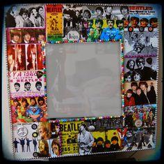 Beatles Wall Mirror John Lennon Paul Mccartney Ringo Starr George Harrison Beatles Wall Art Decoupage furniture  Home Decor