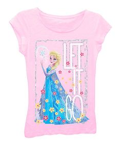 Look at this Light Pink Frozen 'Let it Go' Tee - Girls on #zulily today!