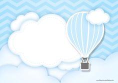 Uau! Veja o que temos para Convite Balão de Ar Quente Azul 4