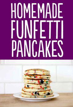 OMG who loves Birthday Cake! Who loves pancakes! I do! Birthday Cake + pancakes= Funfetti yummy ness!