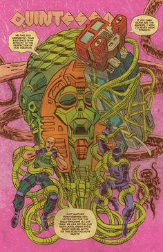Splash page from Transformers vs. G.I. JOE #5 by Tom Scioli