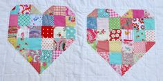 Patchwork Hearts Baby Quilt