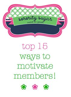 Need more leadership and participation in your chapter? motivate through appreciation, recognition & more...