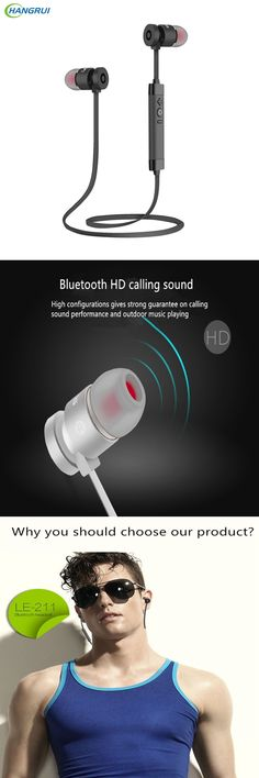 HANGRUI Wireless Bluetooth Earphones In ear Sport Running Hands free Headphones Metal Stereo Headsets for phones fone de ouvido