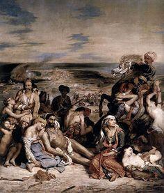 Eugène Delacroix 1798-1863  - Le Massacre de Scio - 1824, hst, 419x354, Louvre