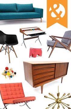 Mid-Century Modern Furniture & Décor   dotandbo.com