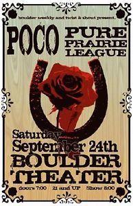 pure prairie   Details about POCO PURE PRAIRIE LEAGUE BOULDER 2011 CONCERT POSTER ...