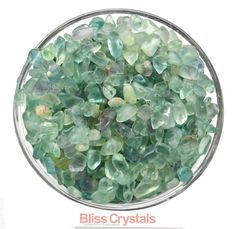 250 XS Mini FLUORITE Green Tumbled Stone 1/4 lb Parcel Crystal Stone Jewelry & Crafts Healing Crystals and Stones