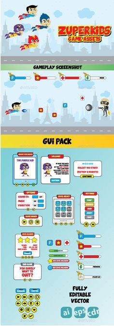 Zuperkids Game Assets & GUI Pack