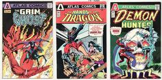 Atlas Comic Book #1 Demon Hunter Hands of the Dragon Grim Ghost Bronze Age 1975