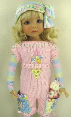 "Dianne Effner Little Darling 13"" Doll OOAK Outfit ""Cotton Candy"" ~by Janet"