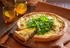Salty pancetta blends with the sweet flavouring of leek in a perfect quiche pairing