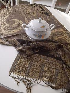 Silk  Coffe  Runner  Table Runner  28 x 70 by LavenderStreet, $59.00