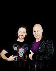 James McAvoy & Patrick Stewart