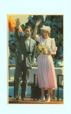 March 29, 1983: Prince Charles & Princess Diana at a reception by 40,000 schoolchildren from 400 local schools at Newcastle, Australia
