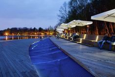 Waterfront walkway by RS+ design, Paprocany Lake, Poland. Click image for full profile and visit the slowottawa.ca boards >> http://www.pinterest.com/slowottawa
