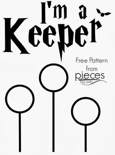 Pieces by Polly: DIY Ron Weasley I'm a Keeper Shirt (Quidditch - Harry Potter) Freezer Paper Stencil